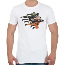 PRINTFASHION Naruto Shippuden Team - Férfi póló - Fehér