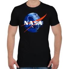 PRINTFASHION NASA Halálcsillag logo - Férfi póló - Fekete