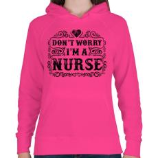 PRINTFASHION Ne aggódj, én vagyok a nővér - Női kapucnis pulóver - Fukszia