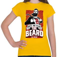 PRINTFASHION Ne félj, itt a szakállam! - Női póló - Sárga