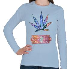 PRINTFASHION Nem elég vicces - Női hosszú ujjú póló - Világoskék