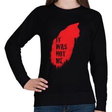 PRINTFASHION Nem én voltam - Női pulóver - Fekete