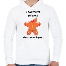 PRINTFASHION Nem érzem az arcom.. - Férfi kapucnis pulóver - Fehér