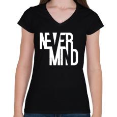 PRINTFASHION Nem fontos - Női V-nyakú póló - Fekete