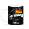 PRINTFASHION Németország - Bögre - Fekete