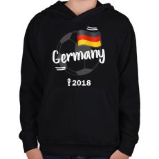 PRINTFASHION Németország - Gyerek kapucnis pulóver - Fekete