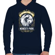 PRINTFASHION Nemzeti Park - Férfi kapucnis pulóver - Sötétkék