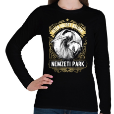 PRINTFASHION Nemzeti Park - Női hosszú ujjú póló - Fekete