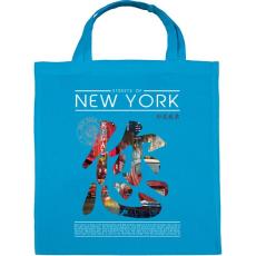 PRINTFASHION New York utcái - Vászontáska - Kék