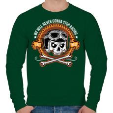PRINTFASHION Nincs megállás - Férfi pulóver - Sötétzöld