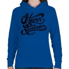 PRINTFASHION Nincs megállás - Női kapucnis pulóver - Királykék