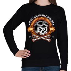 PRINTFASHION Nincs megállás - Női pulóver - Fekete