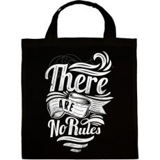 PRINTFASHION Nincsenek szabályok - Vászontáska - Fekete