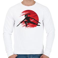 PRINTFASHION Ninja - Férfi pulóver - Fehér