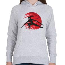 PRINTFASHION Ninja - Női kapucnis pulóver - Sport szürke