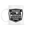 PRINTFASHION Ninja Warrior - Bögre - Fehér