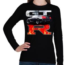 PRINTFASHION Nissan GTR - Női hosszú ujjú póló - Fekete