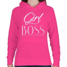 PRINTFASHION Női főnök - Női kapucnis pulóver - Fukszia