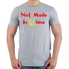 PRINTFASHION not-made-in-china-2 - Férfi póló - Sport szürke