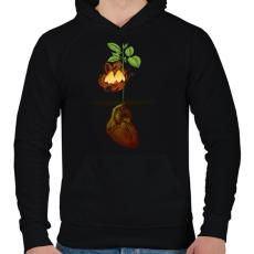 PRINTFASHION Növény világ - Férfi kapucnis pulóver - Fekete