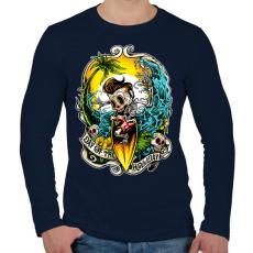 PRINTFASHION Nyaralás - Férfi hosszú ujjú póló - Sötétkék