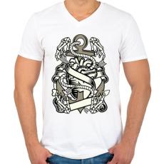 PRINTFASHION Örök szerelem - Férfi V-nyakú póló - Fehér