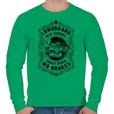 PRINTFASHION Őrült gördeszkás - Férfi pulóver - Zöld