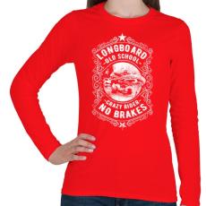 PRINTFASHION Őrült gördeszkás  - Női hosszú ujjú póló - Piros