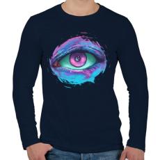 PRINTFASHION Őrző - Férfi hosszú ujjú póló - Sötétkék