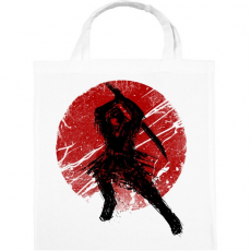 PRINTFASHION Ősi szamuráj - Vászontáska - Fehér