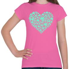 PRINTFASHION Otthon - Női póló - Rózsaszín
