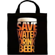 PRINTFASHION Óvd a vizet, igyál sört - Vászontáska - Fekete