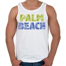 PRINTFASHION PALM BEACH - Férfi atléta - Fehér