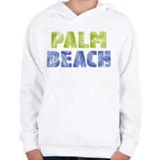 PRINTFASHION PALM BEACH - Gyerek kapucnis pulóver - Fehér