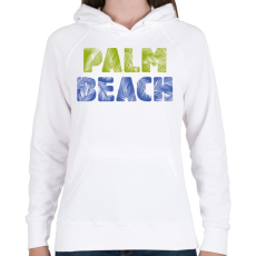 PRINTFASHION PALM BEACH - Női kapucnis pulóver - Fehér