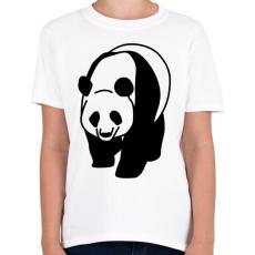 PRINTFASHION Panda - Gyerek póló - Fehér