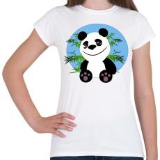 PRINTFASHION panda - Női póló - Fehér