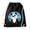 PRINTFASHION panda - Sportzsák, Tornazsák - Fekete