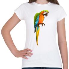 PRINTFASHION Papagáj - Női póló - Fehér