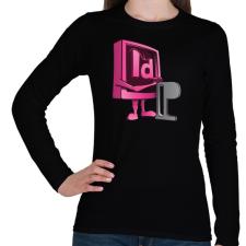 PRINTFASHION Paragraph - Női hosszú ujjú póló - Fekete női póló