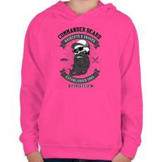 PRINTFASHION Parancsnoki szakáll - Gyerek kapucnis pulóver - Fukszia