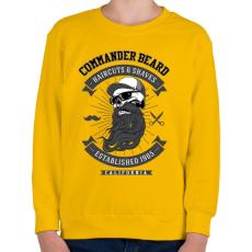 PRINTFASHION Parancsnoki szakáll - Gyerek pulóver - Sárga