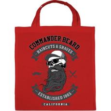 PRINTFASHION Parancsnoki szakáll - Vászontáska - Piros