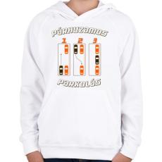 PRINTFASHION parhuzamos-parkolas-2-brown-orange - Gyerek kapucnis pulóver - Fehér