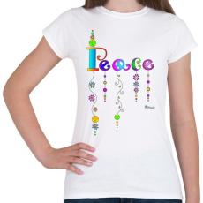 PRINTFASHION Peace - Női póló - Fehér