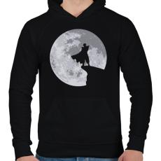 PRINTFASHION Piccolo - Férfi kapucnis pulóver - Fekete