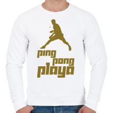 PRINTFASHION PingPongPlaya - Férfi pulóver - Fehér