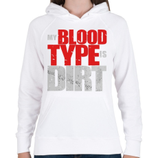 PRINTFASHION Piszkos Vércsoport - Női kapucnis pulóver - Fehér