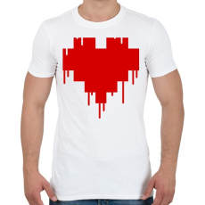 PRINTFASHION Pixel love - Férfi póló - Fehér