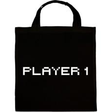 PRINTFASHION PLAYER 1 - Vászontáska - Fekete